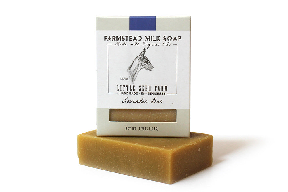 Little Seed Farm Farmstead Milk Soap: Lavender (4.75oz)