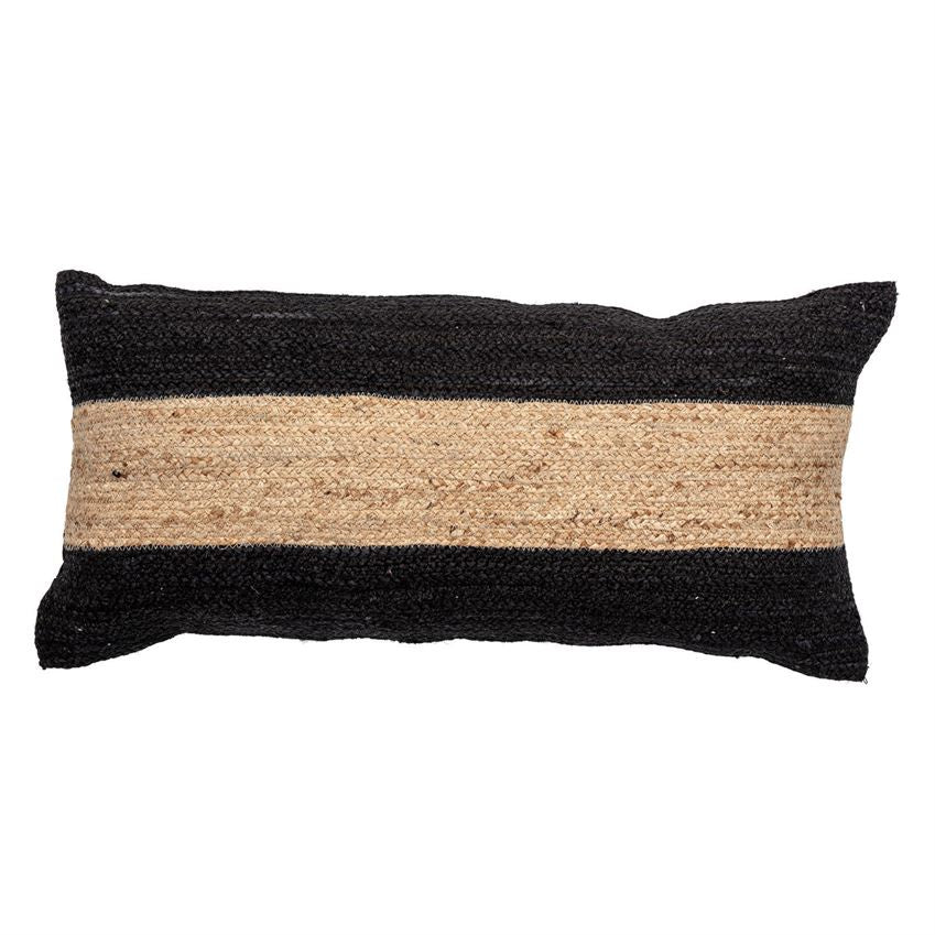 Woven Cotton & Jute Blend Lumbar Pillow