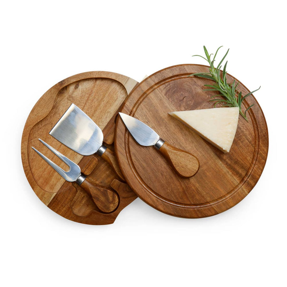 Load image into Gallery viewer, Acacia Brie Cheese Board & Tools Set