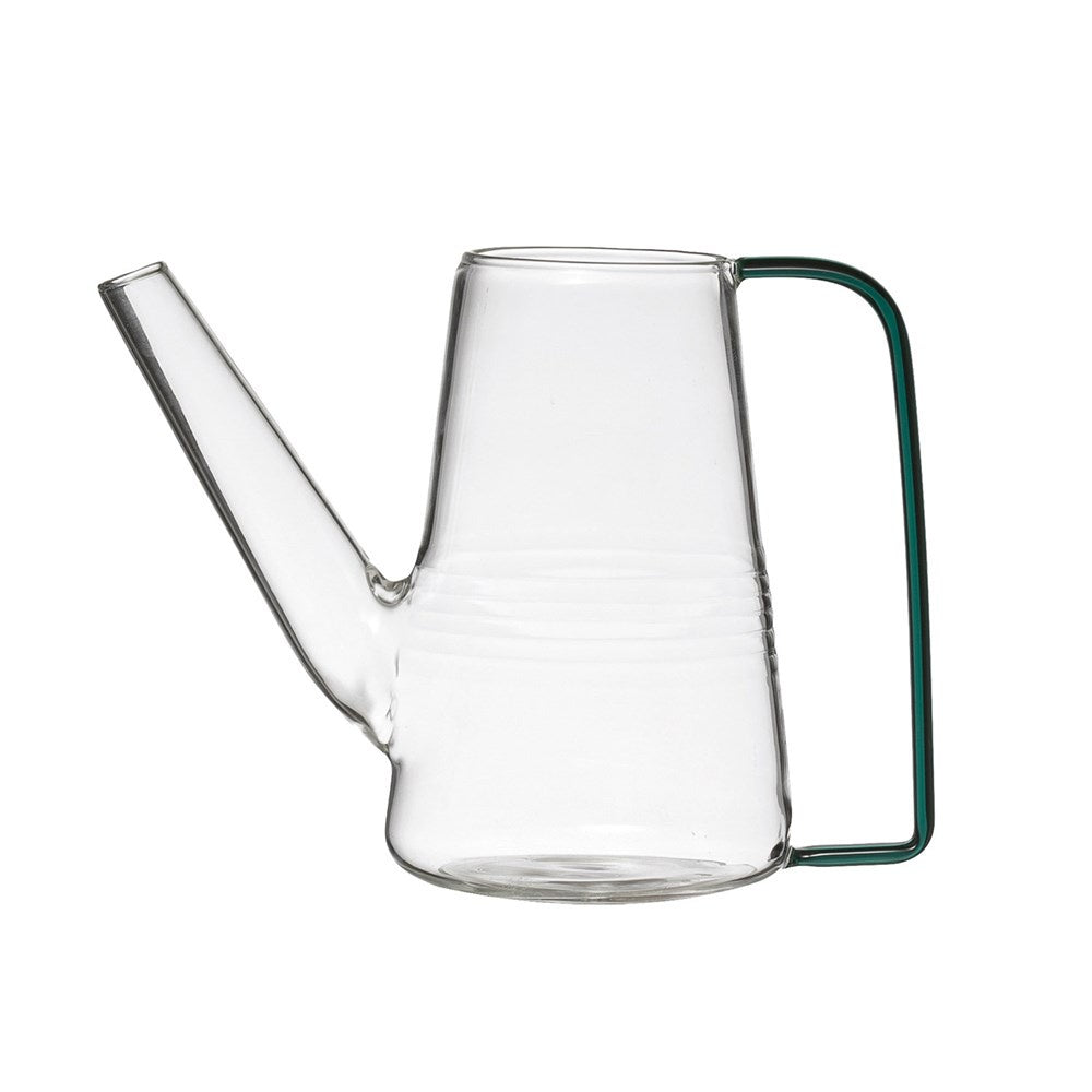 Glass Watering Can w/ Green Handle