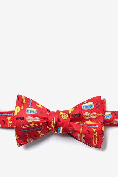Musical Instruments Bow Tie, Red