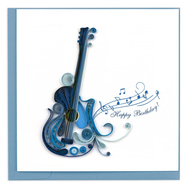 Quilled Electric Guitar Greeting Card