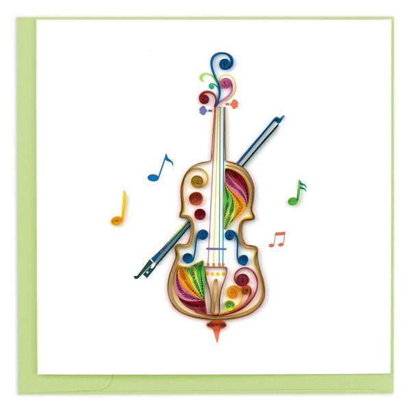 Quilled Cello Greeting Card