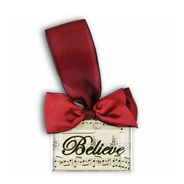 Believe Silhouette Ornament