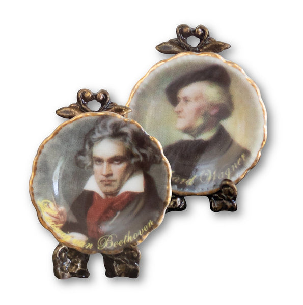 Beethoven & Wagner Miniature Plate Set