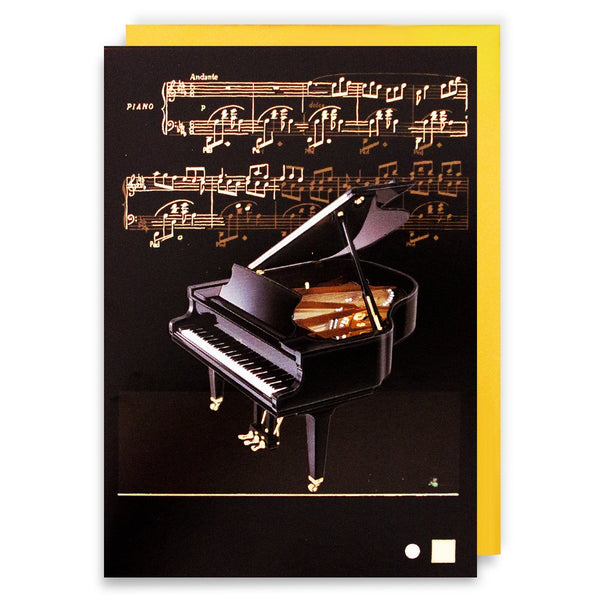 Gold Foil Baby Grand Piano