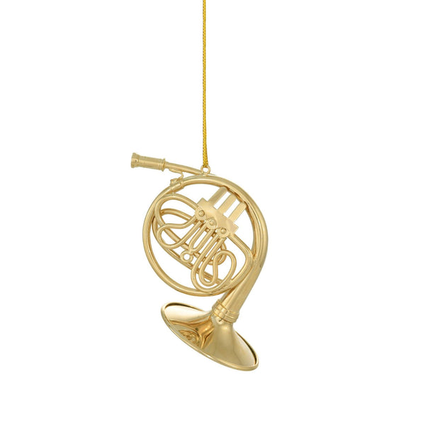 Gold French Horn Ornament