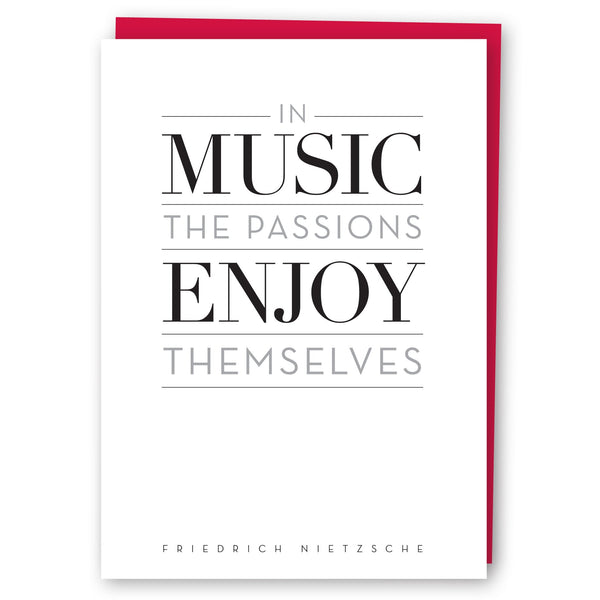 In Music The Passions Enjoy Themselves