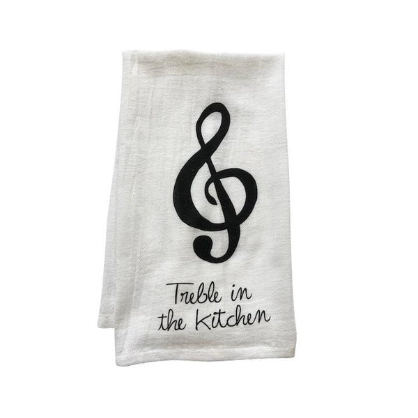 Treble In the Kitchen Tea Towel