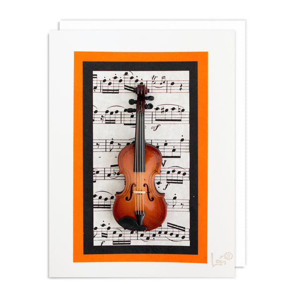 Violin Art Card