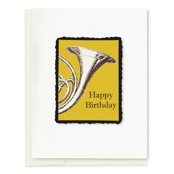French Horn Birthday Card