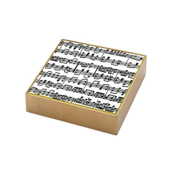 Musica Beverage Napkins in Gold Gift Box