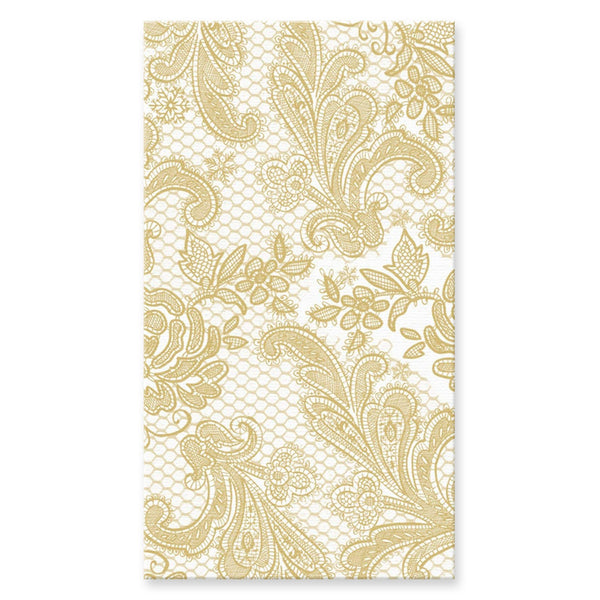 Lace Royal Gold Buffet/Guest Towel