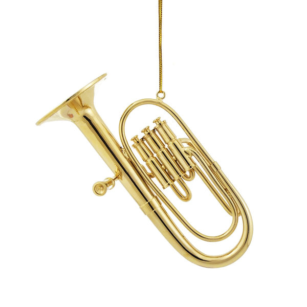 Gold Tuba Ornament