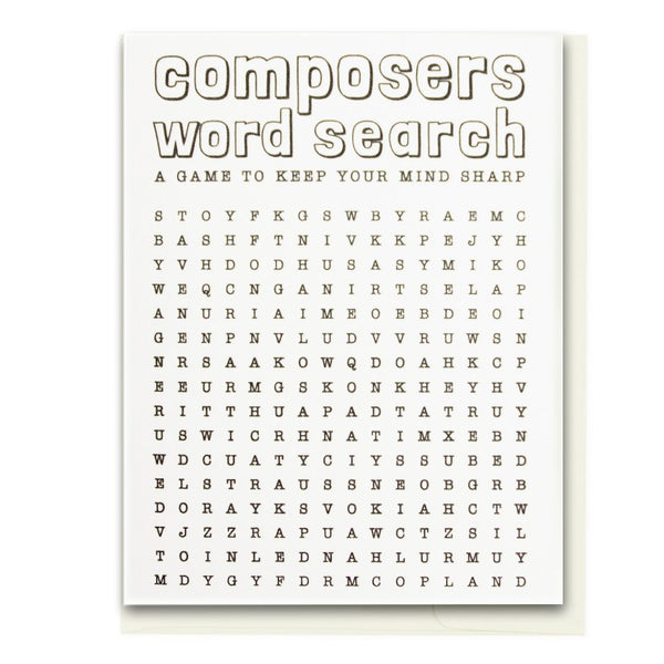 Composer Word Search