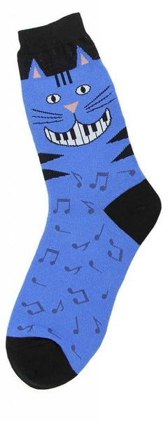 Women's Piano Teeth Cat Sock