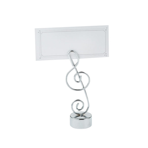 Treble Clef Place Card Holder, S/4