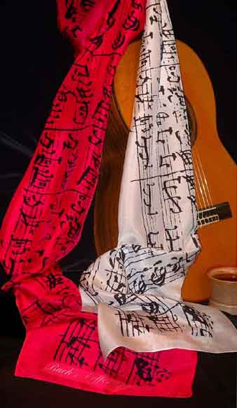 Bach Coffee Cantata Silk Scarf