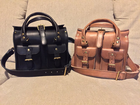 Two Custom Leather Bags