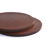 Round Leather Coasters