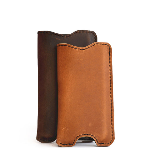 iPhone 8 & 8 Plus Sleeve - Chrome Tan Leather - CLEARANCE