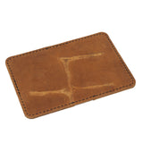 Business Card Wallet - Unique Grain Veg Tan Leather