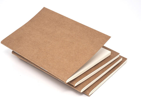 Kraft Paper Refill Notebooks for Leather Journal Covers