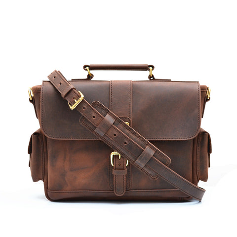 Z Traveler Briefcase - Vintage Leather