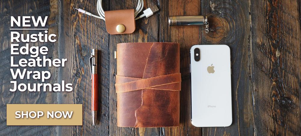Marlondo Leather Rustic Edge Wrap Wallet