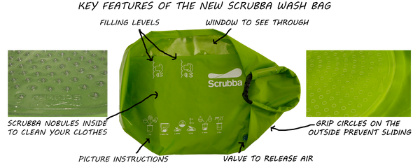 Key Features of the New Scrubba Wash Bag
