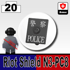 POLICE ROUND SHIELD