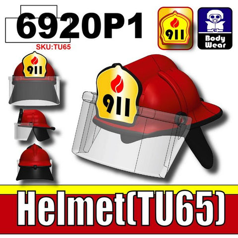 RED HELMET TU65