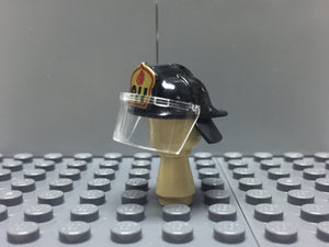 US FIREFIGHTERS HELMET BLACK