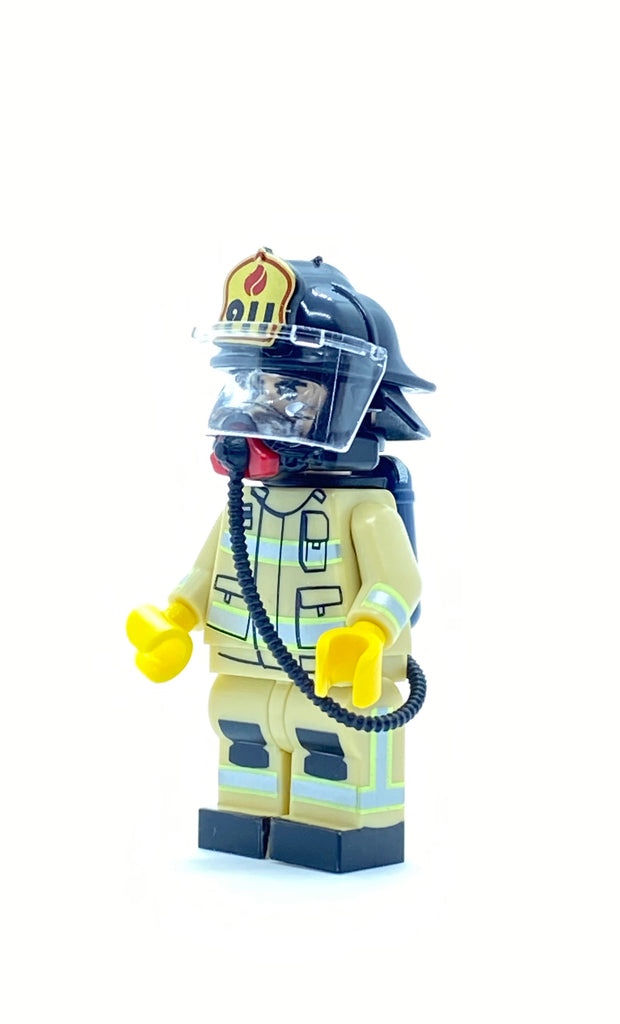 US Firefighter w/ Blackhelmet