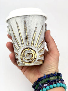 "Sacred Earthscapes ""Rising Sun"" Ceramic Travel Cup"