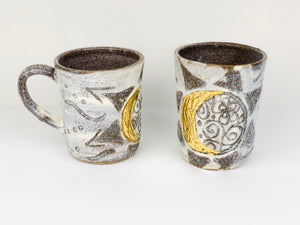 Sacred Full Moon - Crescent Moon Ceramic Tall Cup