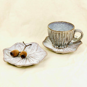 Poppy Seed Head Cup and Saucer