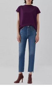 Riley High Rise Crop - Disguise - Mulberry & Me Chicago Boutique