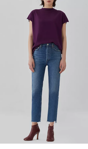 Riley High Rise Crop - Disguise - Mulberry & Me