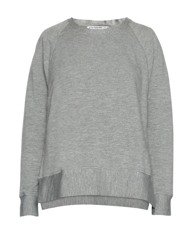 Viscose Fleece Side Slit Sweatshirt - Mulberry & Me Chicago Boutique