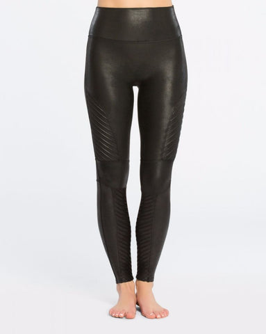 Faux Leather Moto Leggings - Mulberry & Me Chicago Boutique