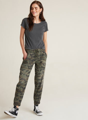 TRUNK SHOW - CAMO JOGGER - Mulberry & Me Chicago Boutique