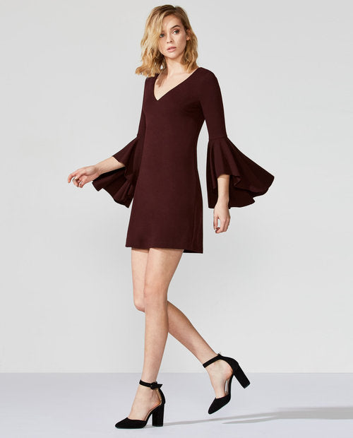 Avalanche Bell Sleeve Dress - Mulberry & Me Chicago Boutique