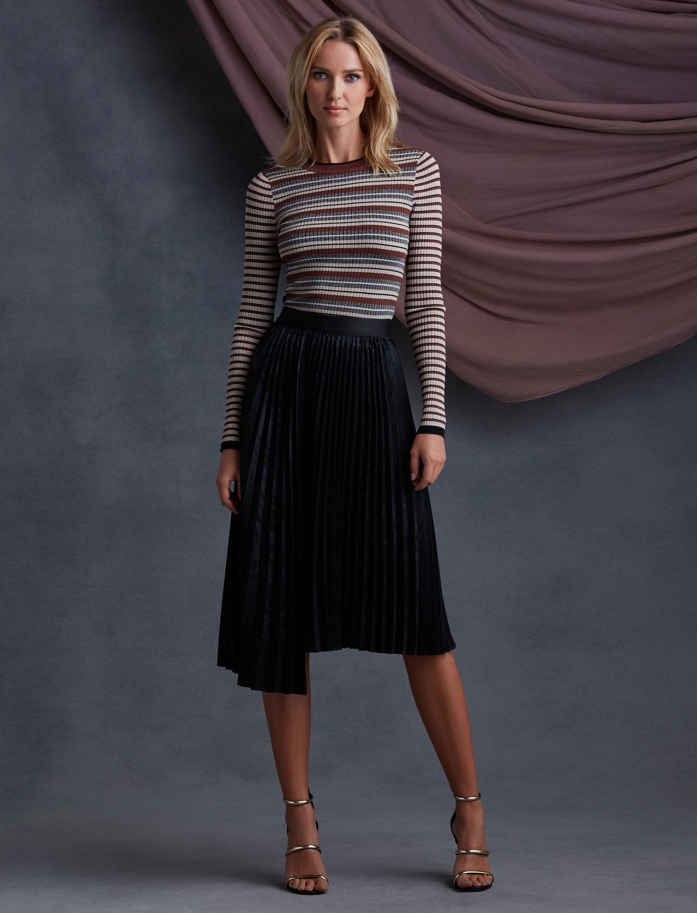 Rothchild Pleated Skirt - Mulberry & Me Chicago Boutique