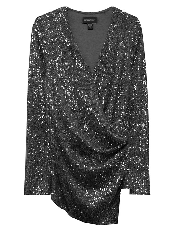 Sequin Wrap Top - Mulberry & Me Chicago Boutique