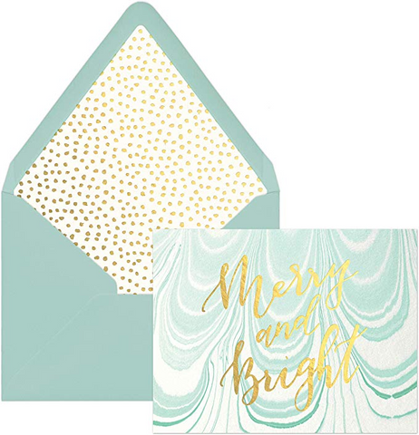 Marbled Paper Holiday Card Set - Mulberry & Me Chicago Boutique