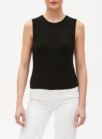 Cropped Crew Neck Tank - Mulberry & Me Chicago Boutique