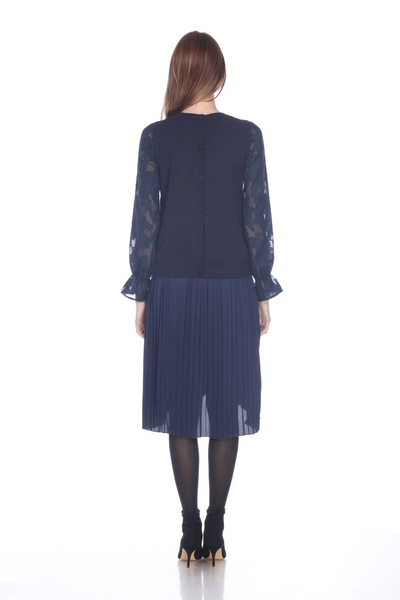 Sheer Sleeve Sweater - Mulberry & Me