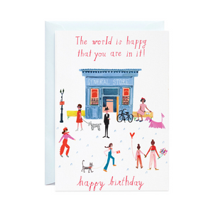 Party on Main Street- Birthday Card