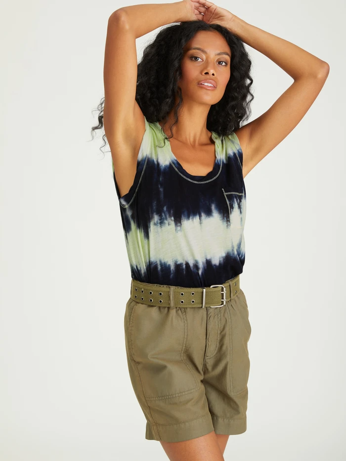 Tie Dye One Pocket Tank